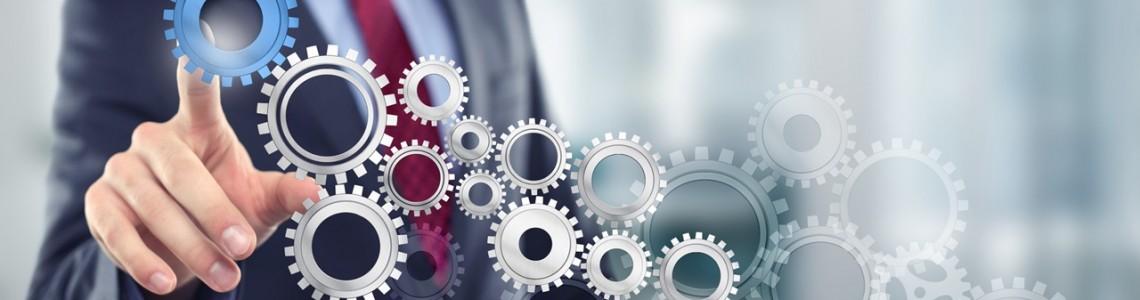 Unternehmen -Bild-Mann-mit-Zahnrad-Samt-Business-Coaching